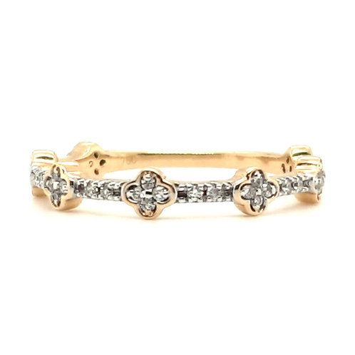 Fancy Diamond Ring 18ct Gold Size M