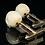 Thumbnail: Skull Mammoth Bone Cufflinks in 9ct Gold