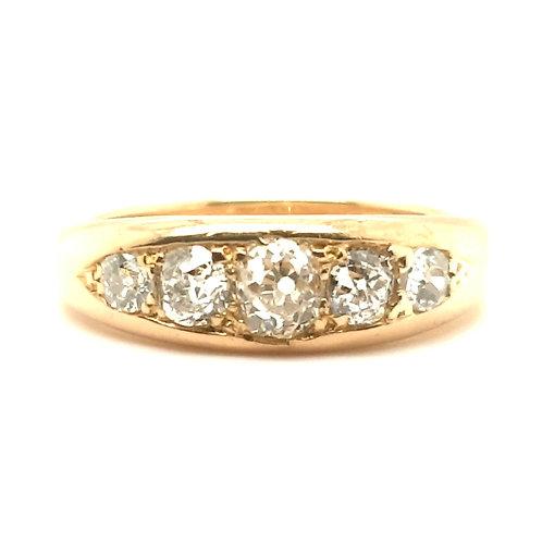 Vintage Old Cut Diamond Eternity Ring 18ct Gold