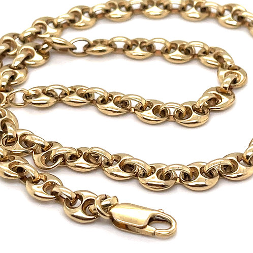 Mariner Link Necklace 9ct Yellow Gold 17.7 Inch