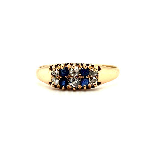 Victorian Sapphire and Diamond Ring 18ct Gold