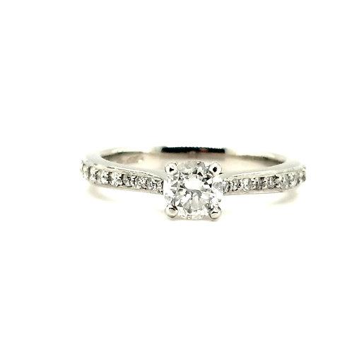 Diamond Solitaire Ring set in Platinum
