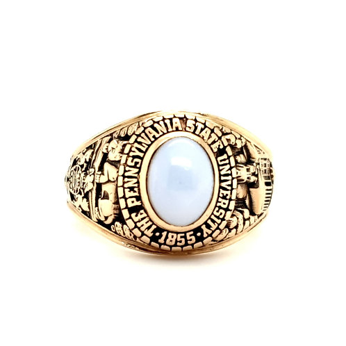 Star Sapphire College Ring 10ct Gold