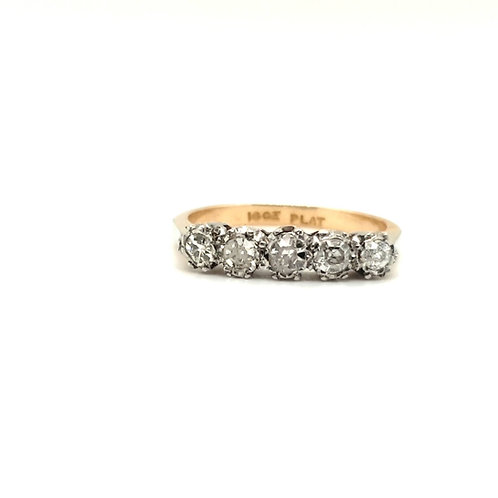 Vintage Diamond Eternity Ring 18ct / Platinum