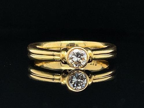 A Bezel Set Diamond Ring 0.25 Carat 18ct Yellow gold
