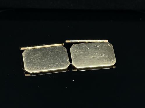 Retangular Cufflinks 9ct Yellow  Gold