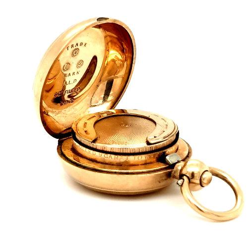 9ct Gold Filled AL Dennison Sovereign Coin Holder