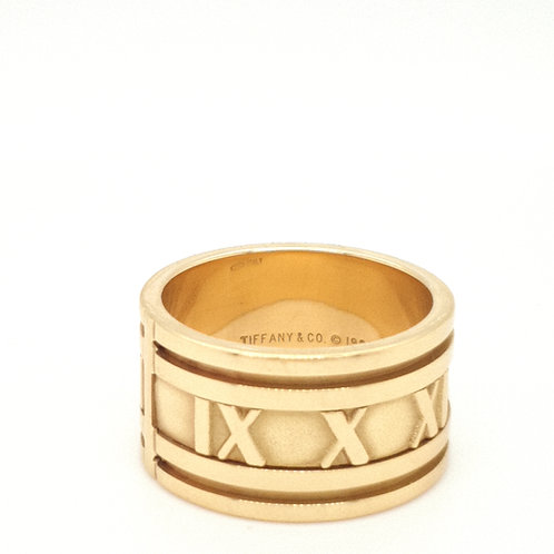 Tiffany and Co 18ct Yellow Gold 12mm  Atlas Ring