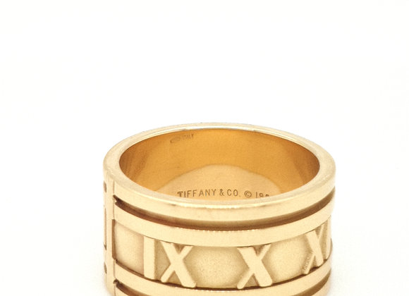 Tiffany and Co 18ct Yellow Gold Atlas Ring