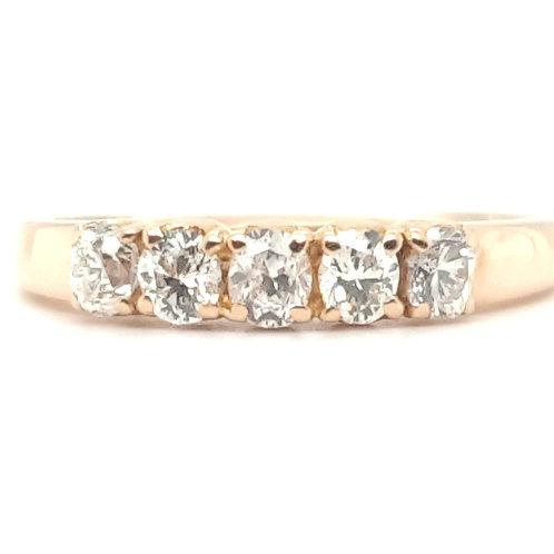 Oval Diamond Half Eternity 18ct Gold