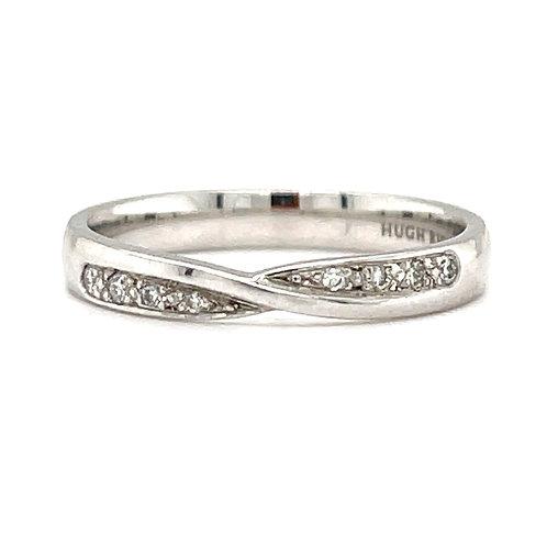 Diamond Ribbon Twist Ring 18ct White Gold