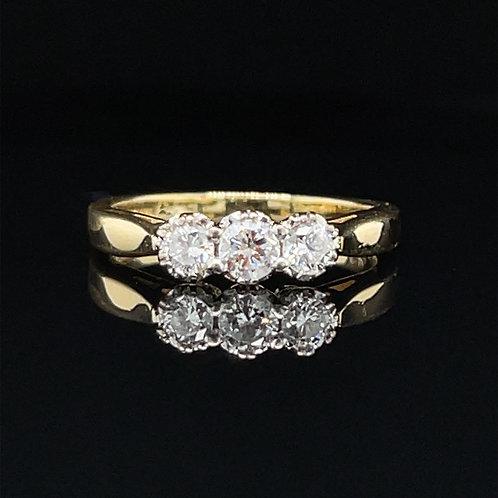 Diamond Trilogy Ring 18ct Gold 0.25 carat