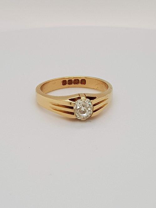 Antique Georgian Diamond Old cut Diamond Ring Dated Sheffield 1824