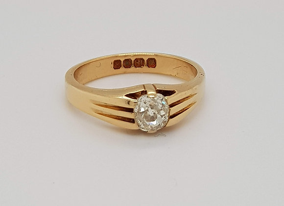 Antique Georgian Diamond Old cut Diamond Ring Dated Sheffield 1824