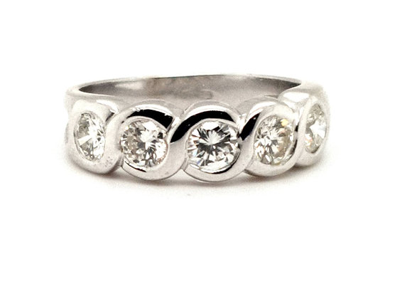 Diamond Eternity Ring set in 18ct White Gold 1ct Total