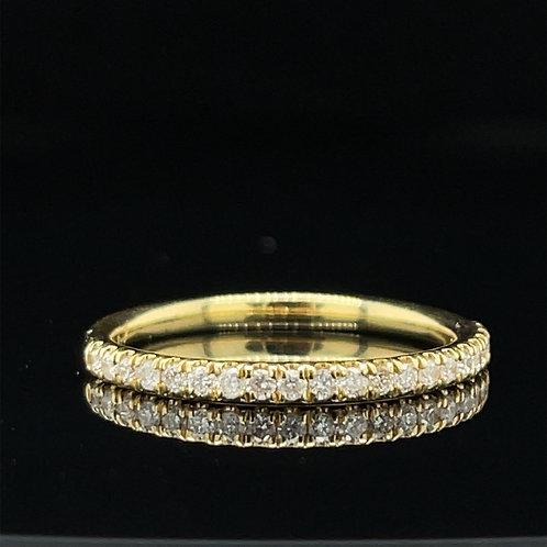 Pretty Diamond Band 18ct 0.25 Carat Yellow Gold