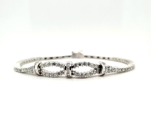 Fancy Infinity Diamond Bracelet 18ct Gold