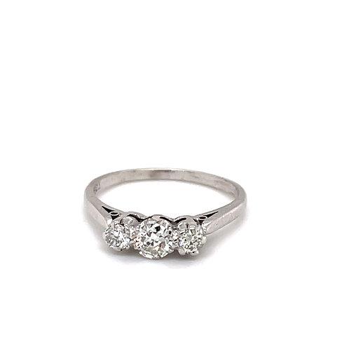 Diamond Trilogy Ring Platinum 0.50 carat