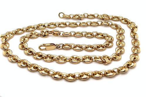Mariner Link Gold 9ct Yellow Chain 26.3 Inch