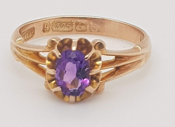 Vintage Amethyst 9ct Ring