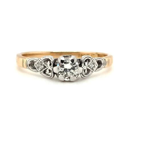 Art Deco Diamond Ring 18ct Gold