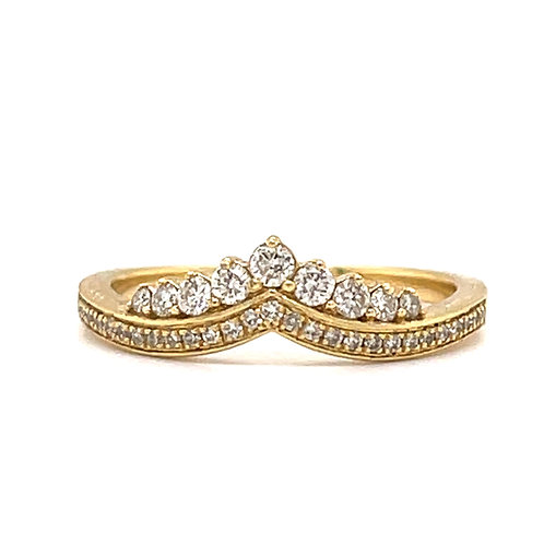 Diamond Tiara Ring 18ct Yellow gold