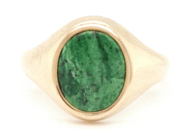 Nephrite Jade 9ct Signet Ring