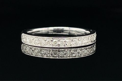 Grain Set Diamond Ring 18ct White Gold