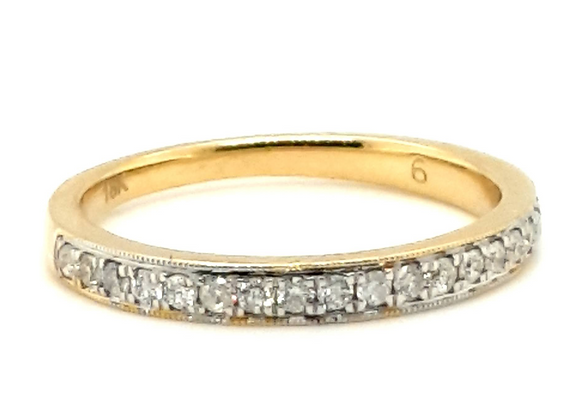 Diamond Channel Set Ring 18ct Yellow Gold