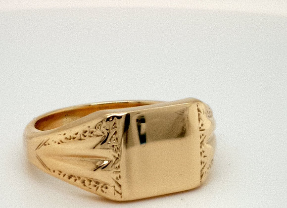 Fancy Signet Ring 9ct Yellow Gold
