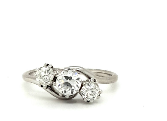 Platinum Trilogy Diamond Twist Ring