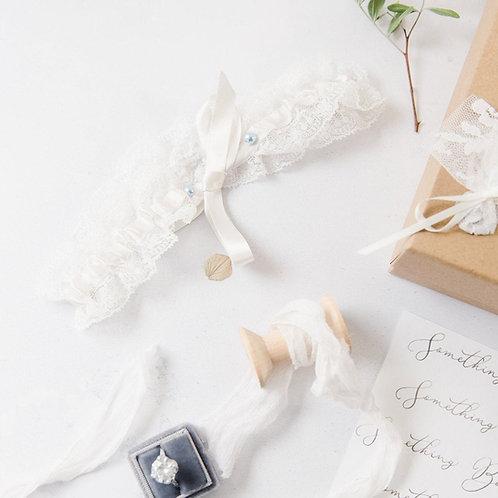 Tie Style Lace Simple Wedding Bridal Garter