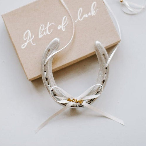 Personalised Letterbox Gift Eco Concious 'Love' Lucky Wedding Horseshoe Gift Loc