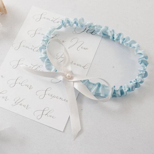 Something Blue Letterbox Gift Slim Wedding Bridal Garter