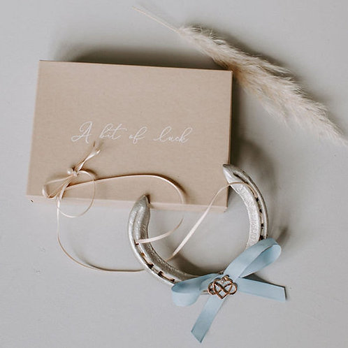 Personalised Letterbox Friendly Infinity Heart Lucky Wedding Horseshoe Gift Brid