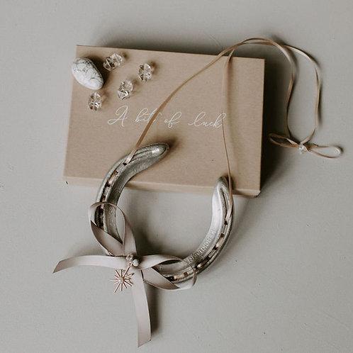 Personalised Letterbox Celestial Lucky Wedding Horseshoe Wedding Gift Anniversar