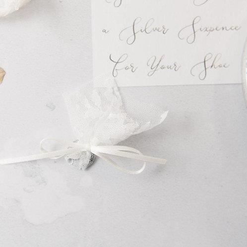 Lucky Silver Sixpence For Her Shoe Wedding Gift Wedding Keepsake Letterbox Gift