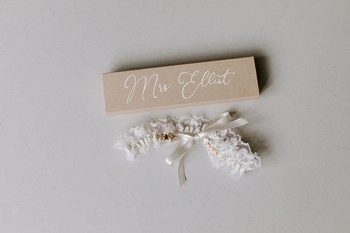 Gold Star Celestial Lace Wedding Bridal Garter