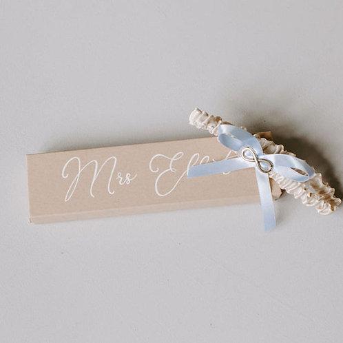 Infinity Charm Something Blue Wedding Garter Gift