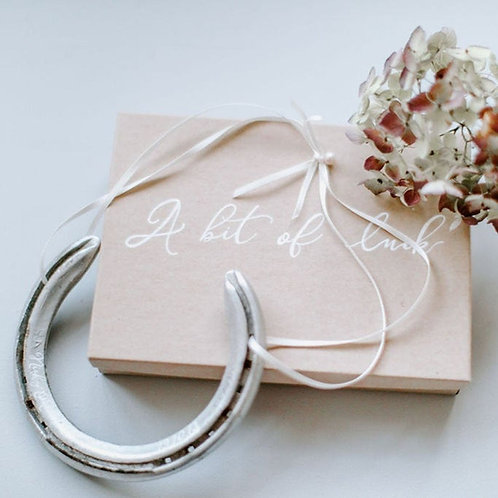 Letterbox Gift Personalised Eco Concious Lucky Wedding Horseshoe Gift/Anniversar