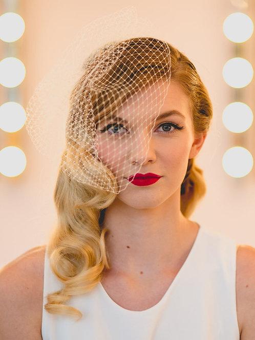 Full Face Birdcage Wedding Veil