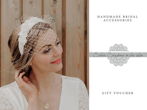 Bridal accessories or gifts Gift Voucher, choose your amount, Gift card