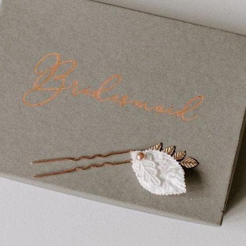 Beaded Leaf Wedding Hairpin Bridal hairpin Bridesmaid Hairpin hair accessory
