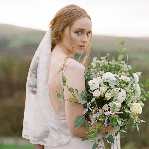 Lace Scallop Edge Bridal Wedding Veil