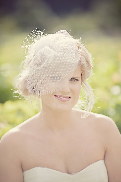 Short Half Face Blusher Birdcage Wedding Bridal Veil