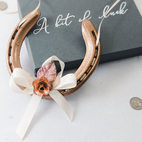 Personalised Letterbox Rose Gold Margaux Lucky Wedding Horseshoe Gift Anniversar