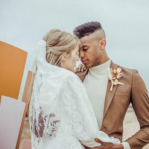 Elbow Length Simple Lace Wedding Veil