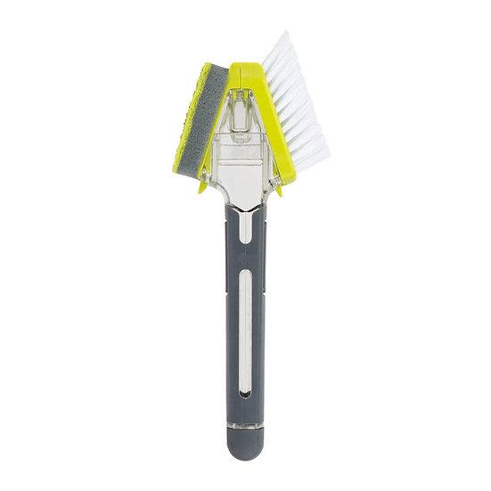 Casabella Smart Scrub Dispensing Brush & Sponge Grey/Green CB-15787