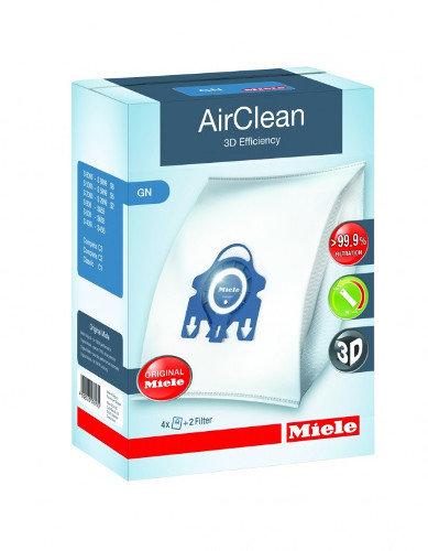 Miele Type GN AirClean 3D Efficiency Vacuum Bags 4 Bags & 2 Filters