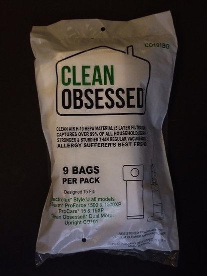 Clean Obsessed CO101 HEPA Filter Bags 9/pk